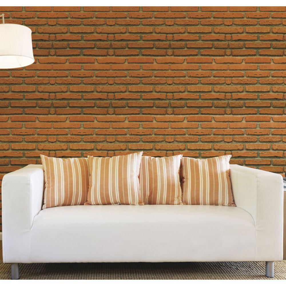 35d0a42e4 Tecido Adesivo Flok Decoração Casa Tijolo 50x300 Cm - Tintas MC